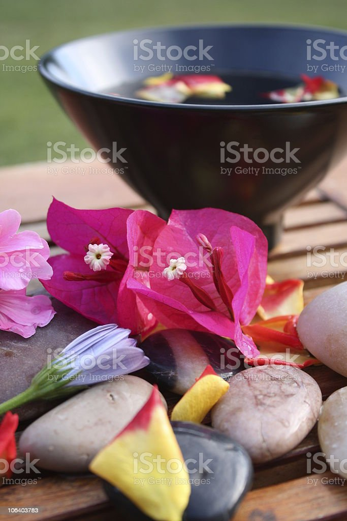 Aromatherapy Flower Bowl – Bougainvillea stock photo