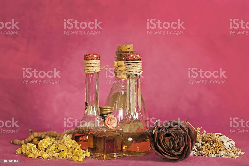 Aromatherapy, herbal treatment stock photo