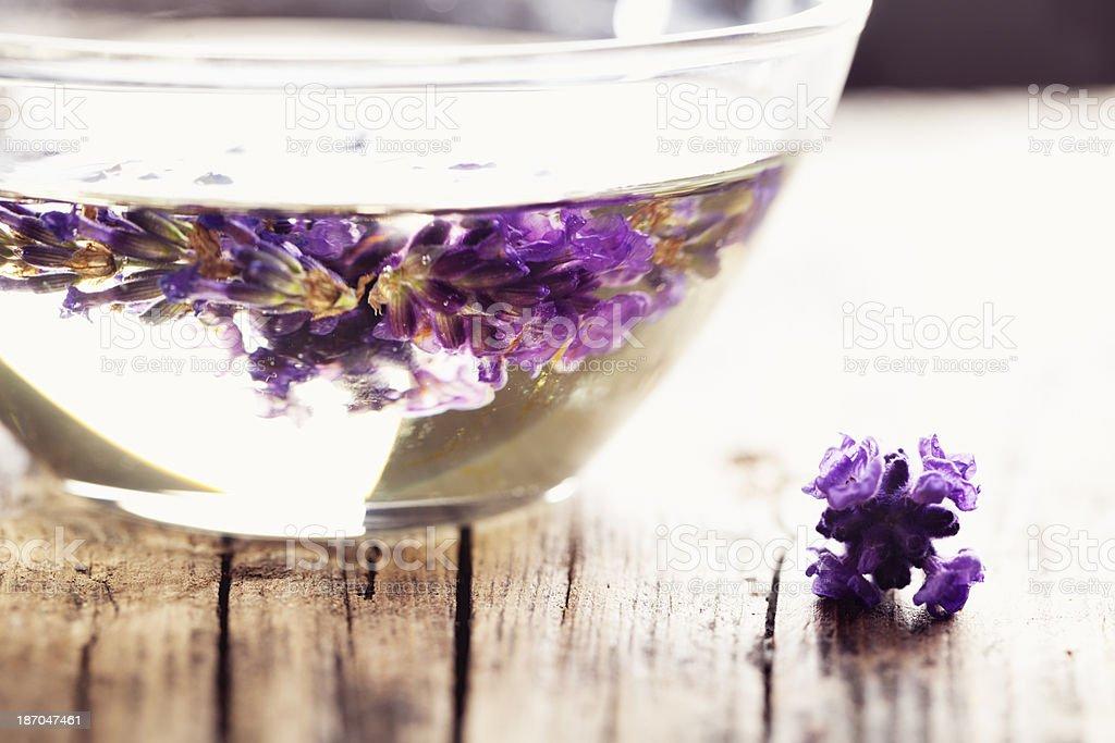 aromatherapy lavender massage oil royalty-free stock photo