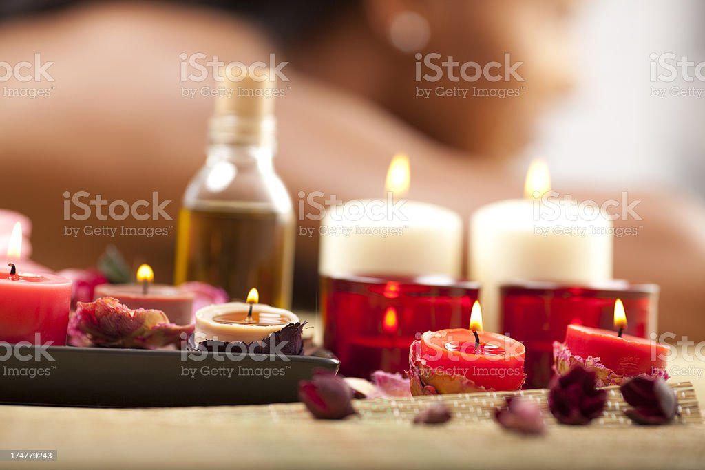 Aromatherapy massage. royalty-free stock photo