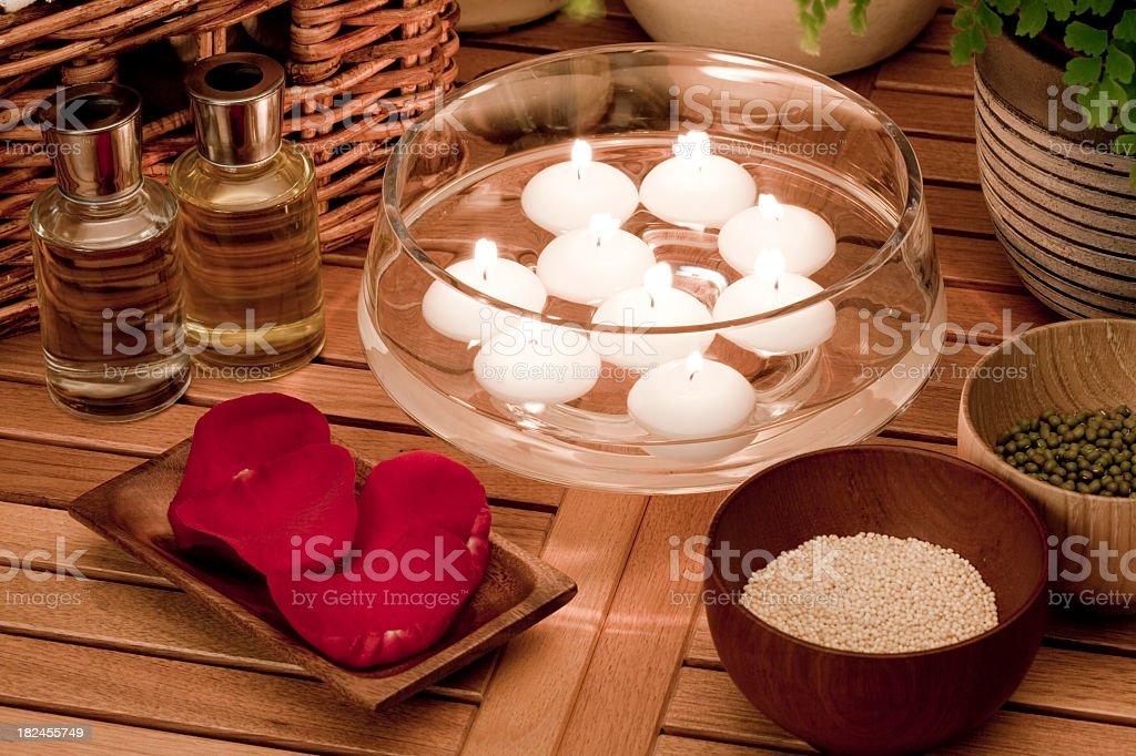 Aromatherapy spa treatment royalty-free stock photo