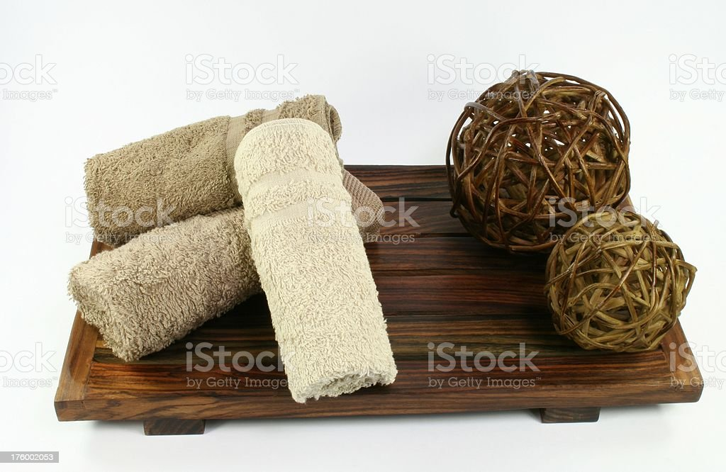 aromatherapy towels royalty-free stock photo