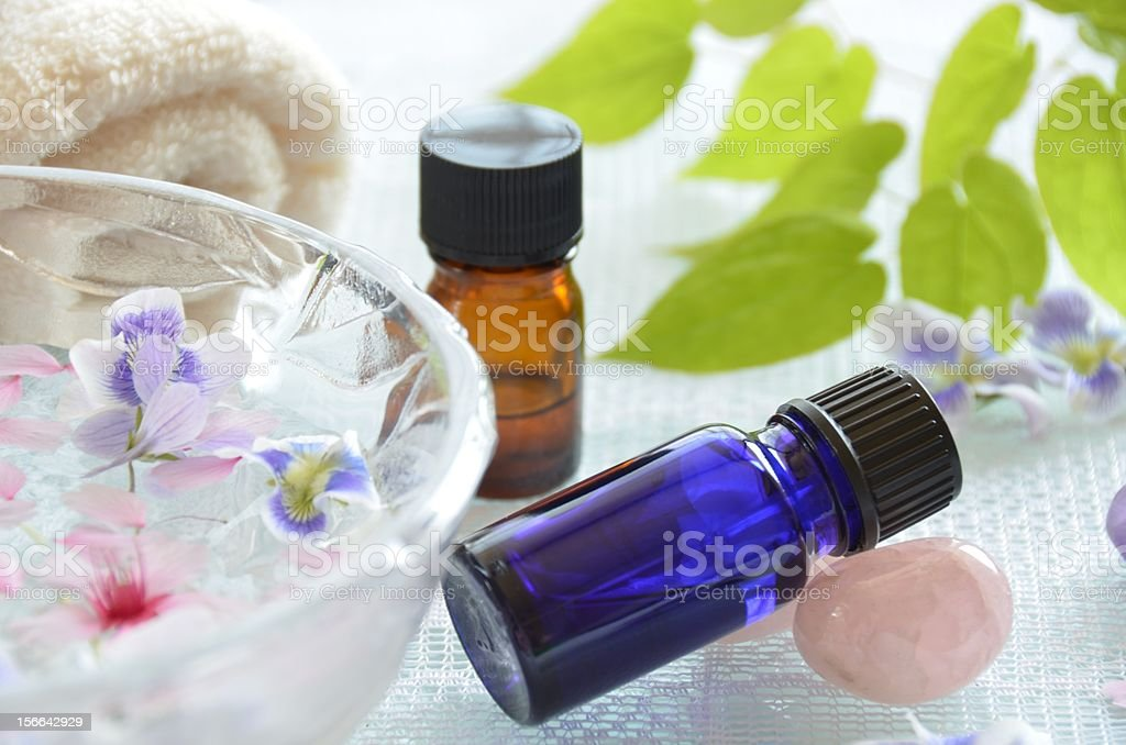 aromatherapy treatment with essential oil royalty-free stock photo