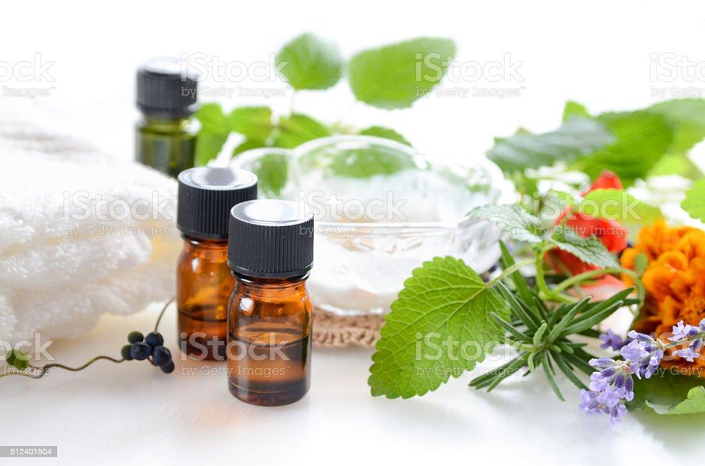 aromatherapy treatment with moisturizer cream stock photo