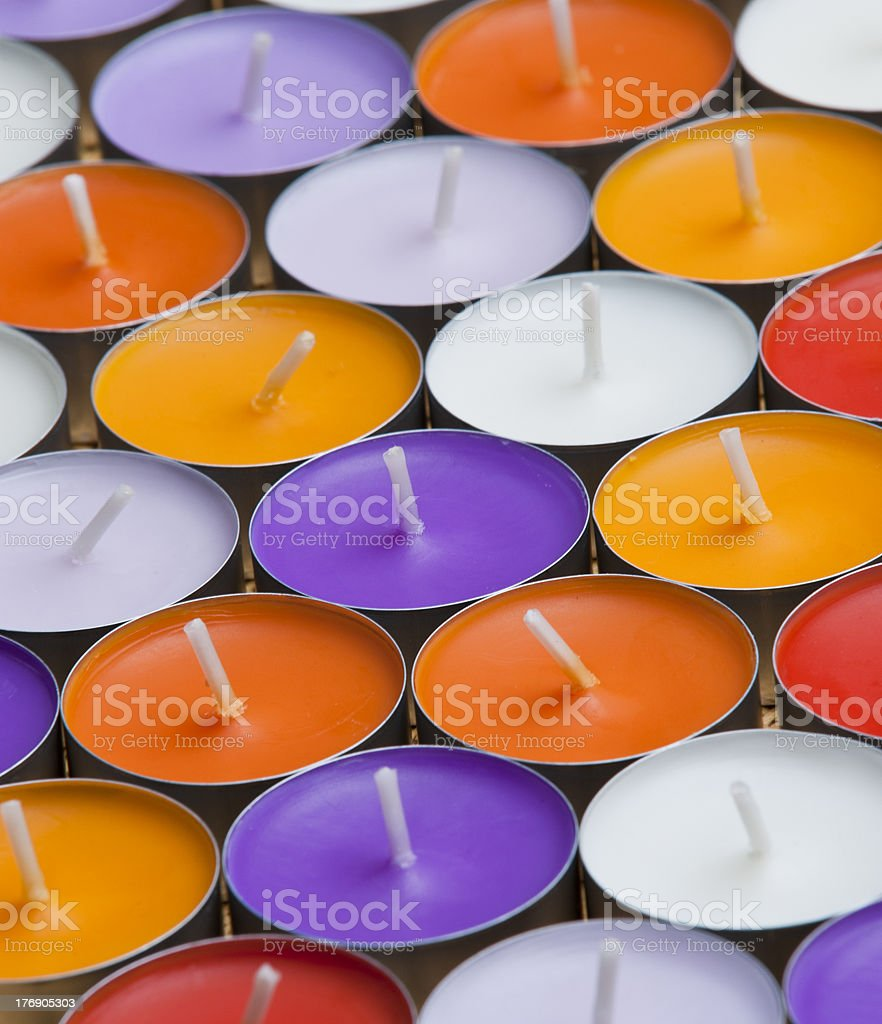 Aromatic candles royalty-free stock photo