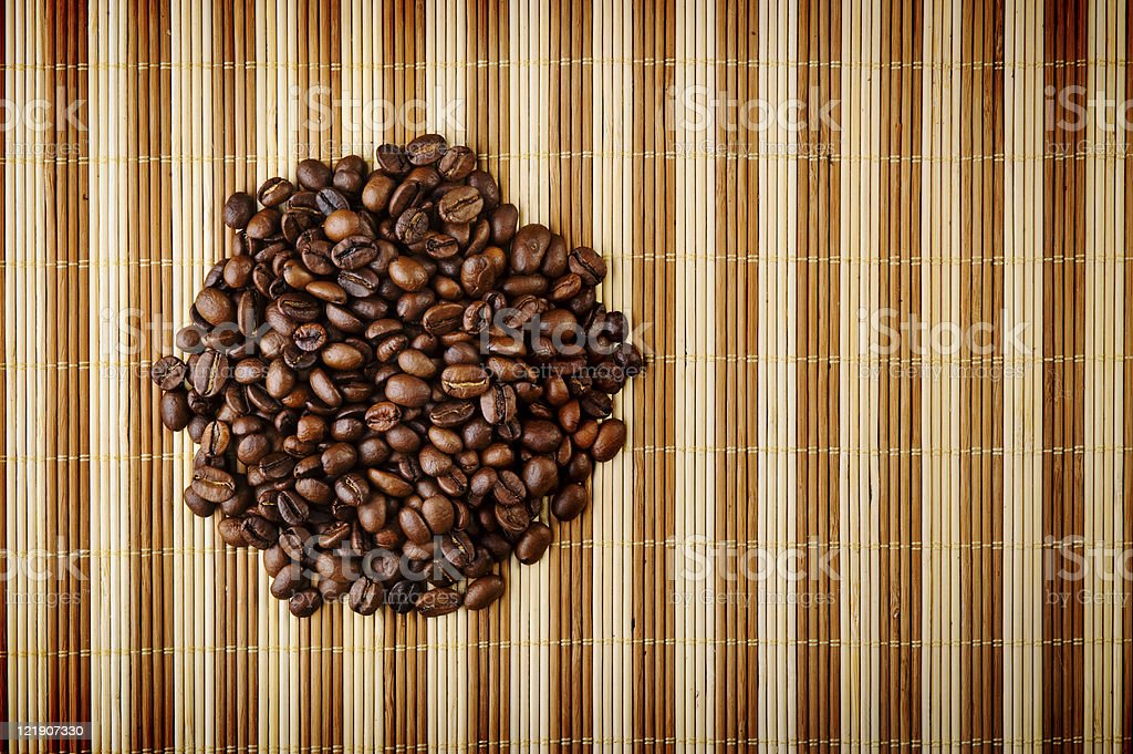 aromatic coffee beans royalty-free stock photo