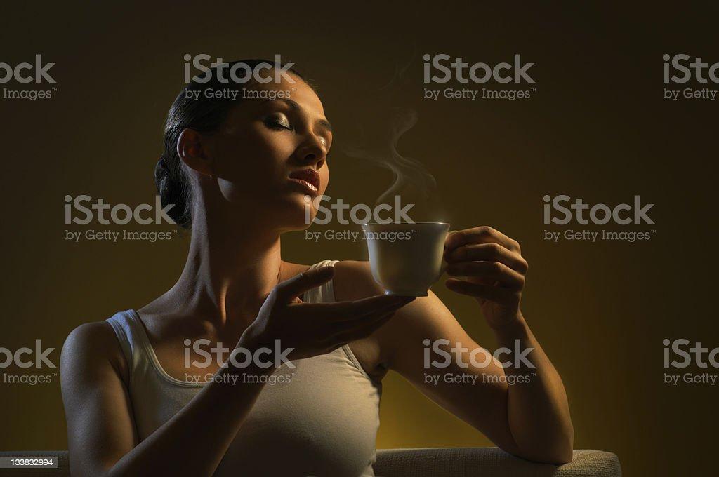 aromatic coffee royalty-free stock photo