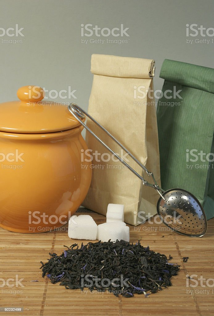 Aromatic flower tea leaves royalty-free stock photo