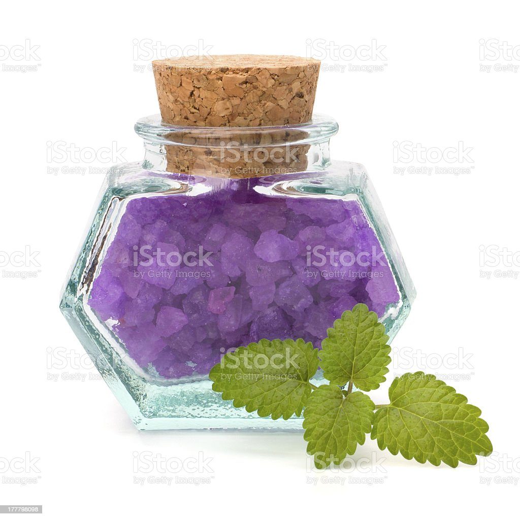 Aromatic natural mineral salt royalty-free stock photo