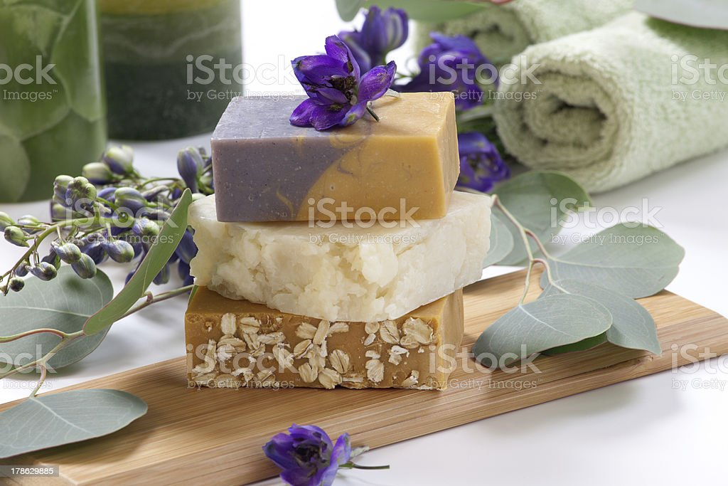Aromatic Natural Soap stock photo