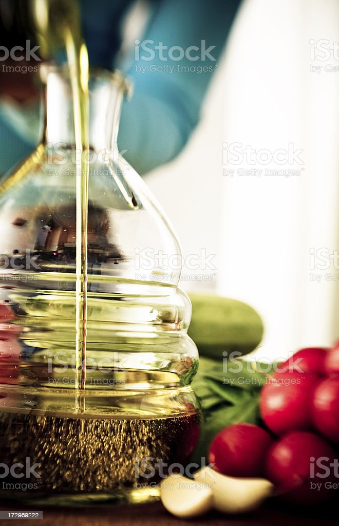 Aromatic olive oil stock photo
