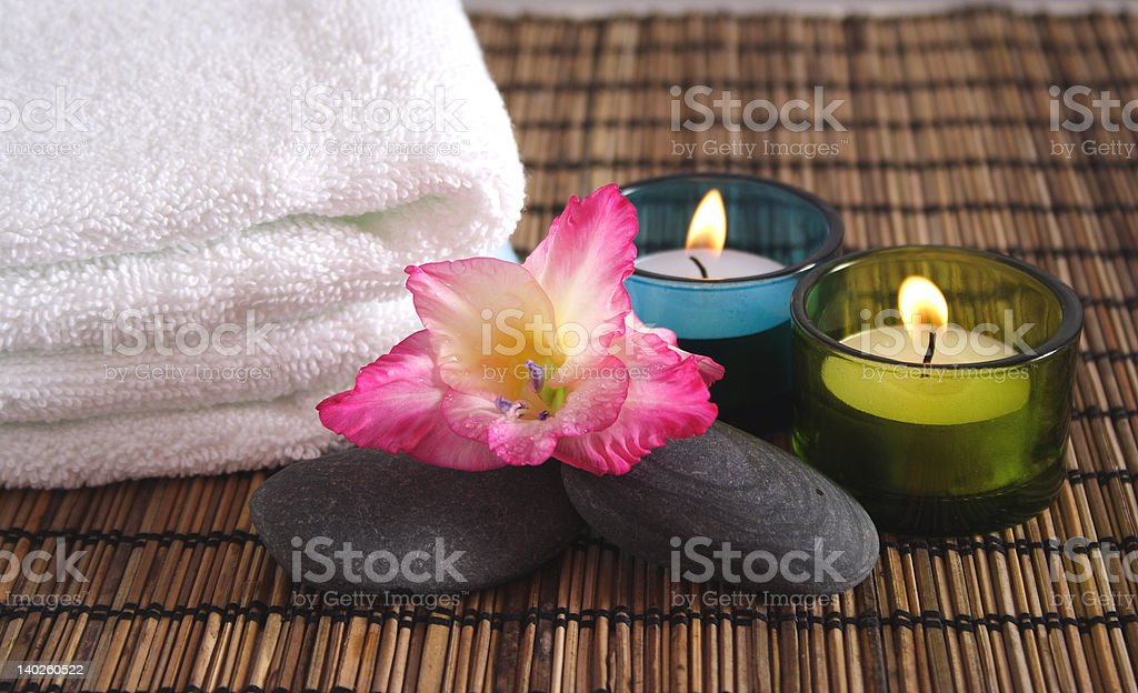 Aromatic Spa Objects royalty-free stock photo