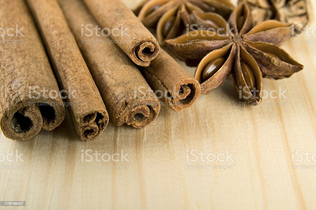 Aromatic spices stock photo