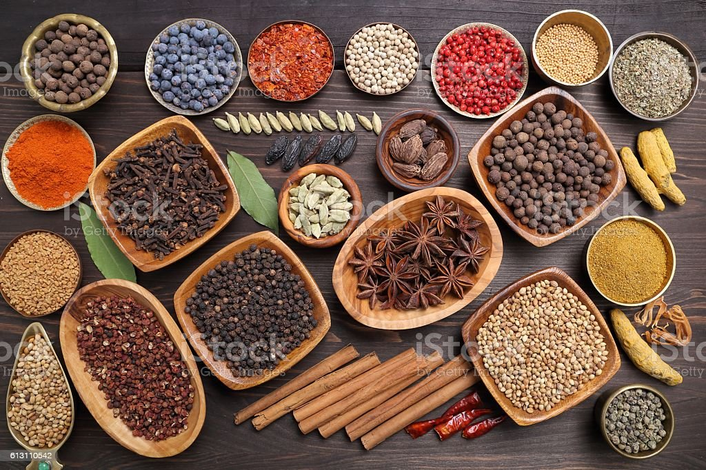 Aromatic spices. stock photo