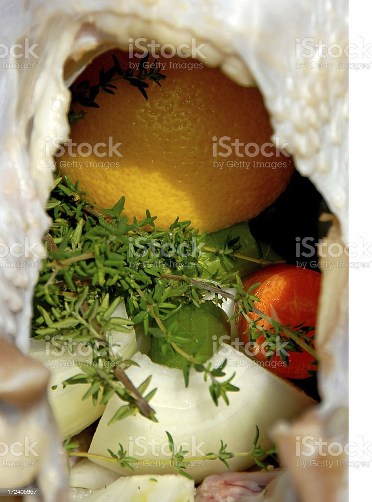 Aromatics for Thanksgiving Turkey or Chicken stock photo