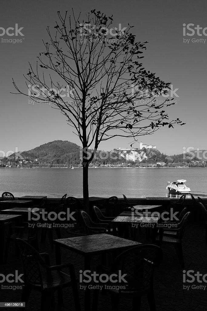 Arona. Black and White stock photo