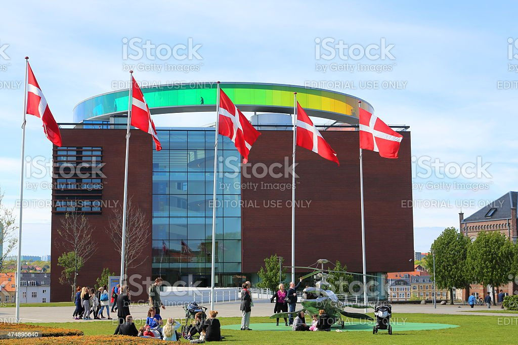 Aros art museum Aarhus, Denmark stock photo