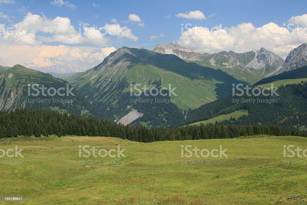 Arosa area in Switzerland royalty-free stock photo