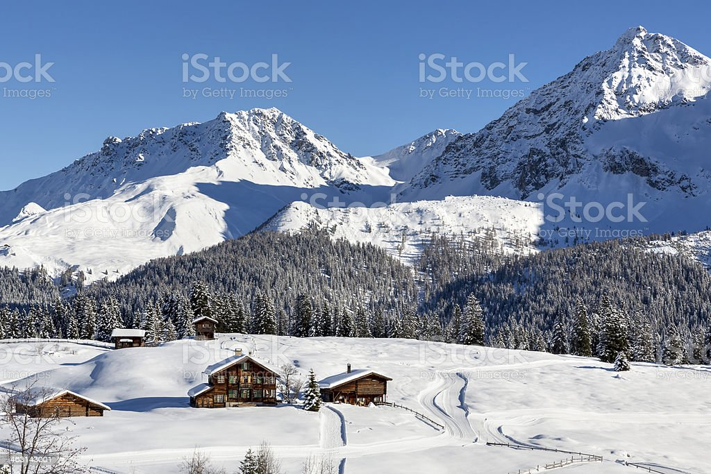 Arosa Langlauf stock photo