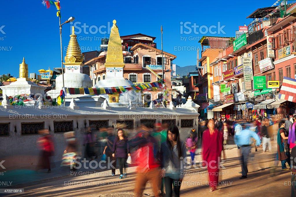 Around Bodnath Stupa royalty-free stock photo