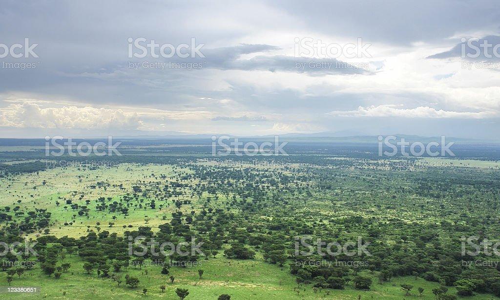 around Bwindi Impenetrable Forest in Uganda royalty-free stock photo