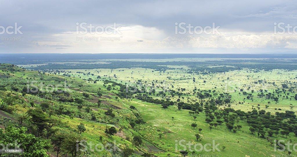 around Bwindi Impenetrable Forest in Uganda stock photo