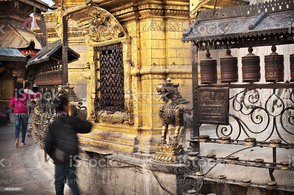 Around Swayambhunath royalty-free stock photo