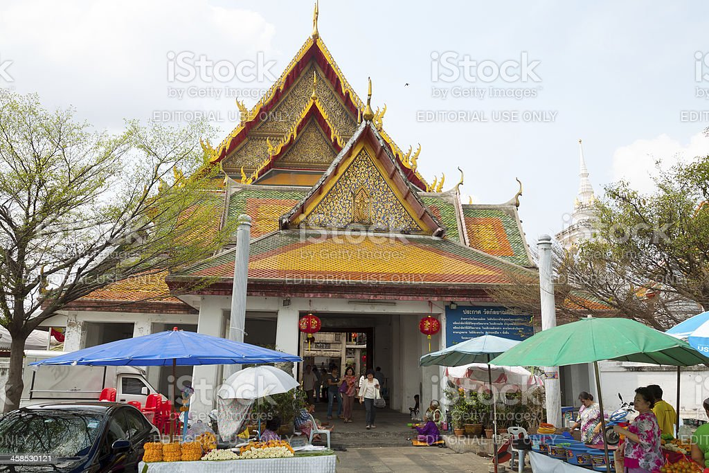 Around temple Wat Kanyalanamit royalty-free stock photo