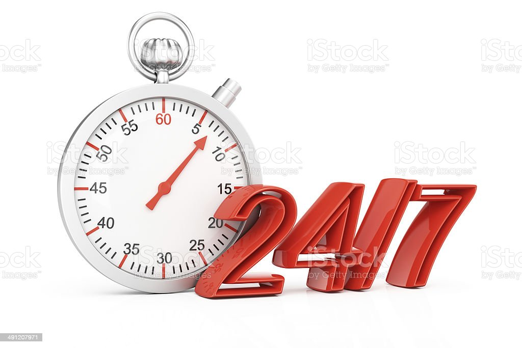 Around the clock concept royalty-free stock photo