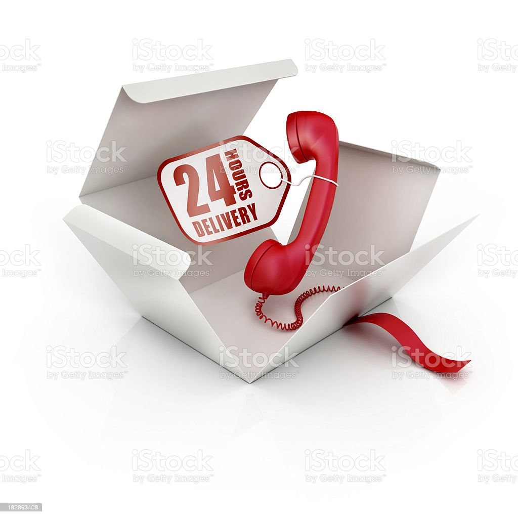around the clock delivery royalty-free stock photo