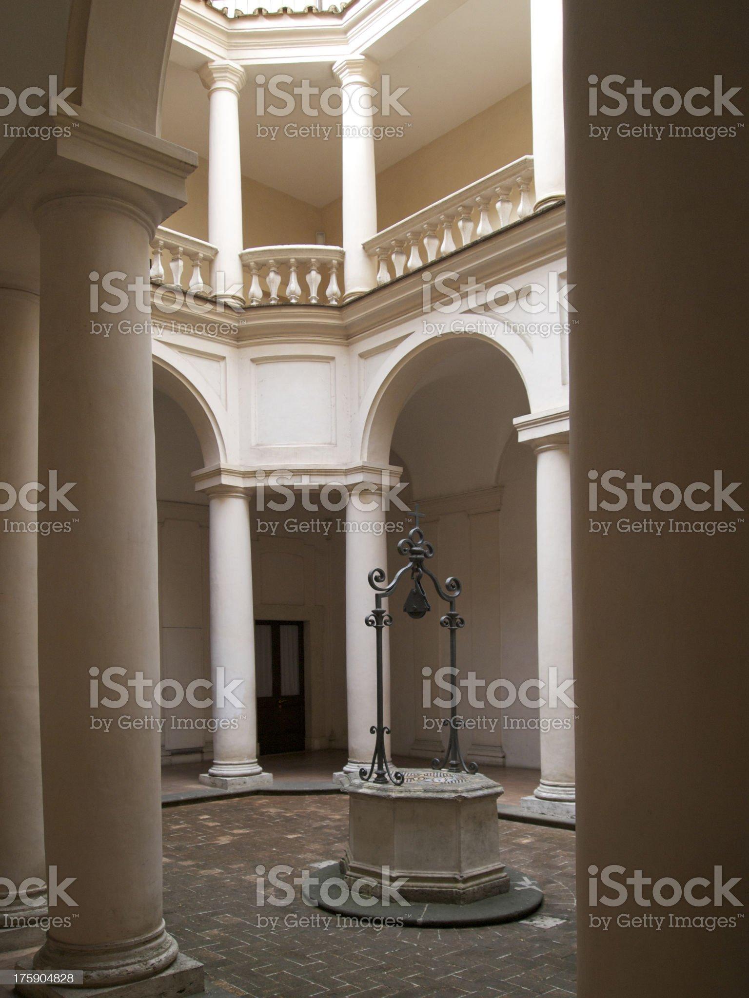 Around the cloister of San Carlo alle Quattro Fontane royalty-free stock photo