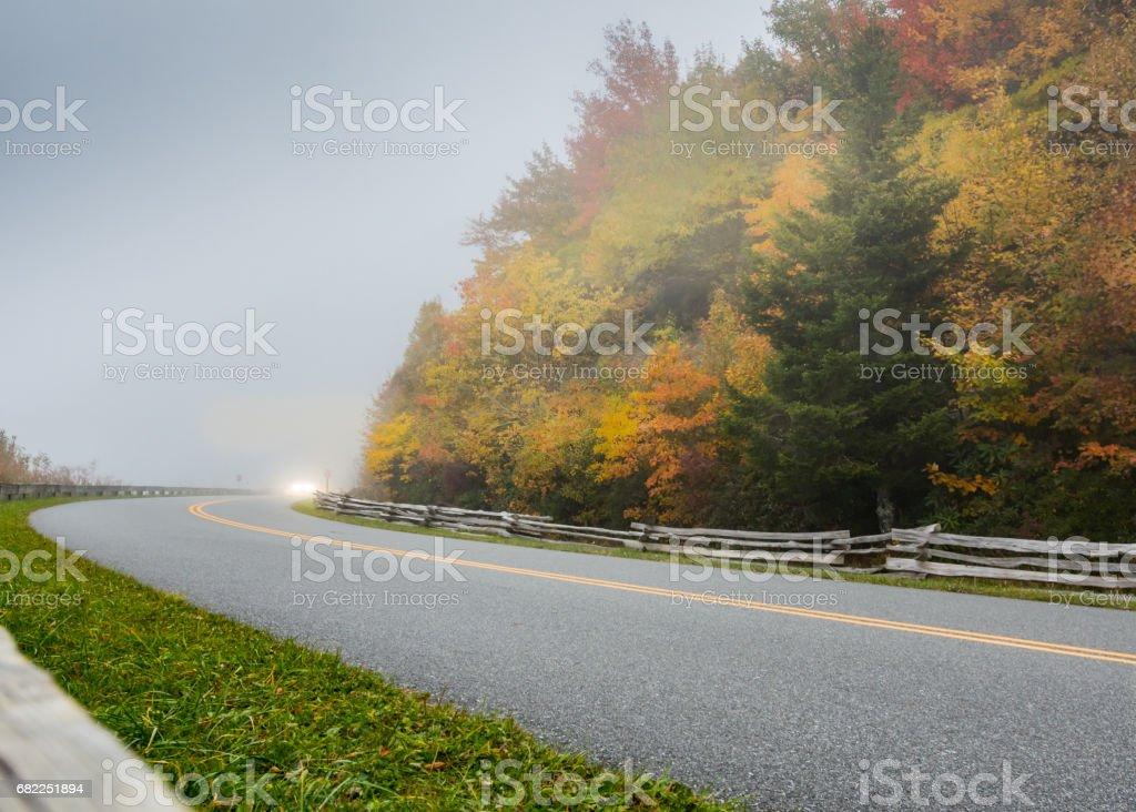 Around the Foggy Corner stock photo