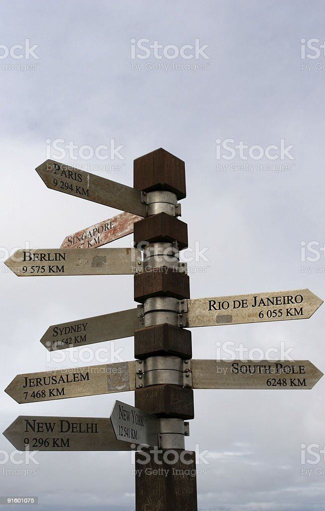 Around the world directions royalty-free stock photo