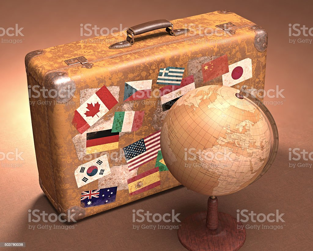 Around The World stock photo