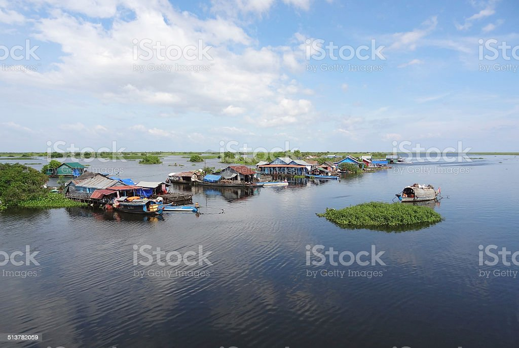 around Tonle Sap stock photo