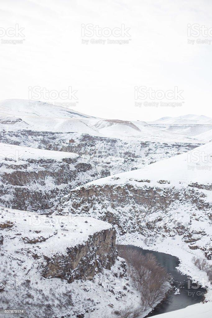 Arpacay Valley and Ani Ruins, Kars, Turkey stock photo