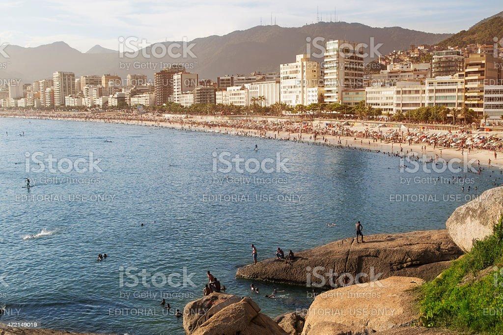 Arpoador and Ipanema Beaches royalty-free stock photo