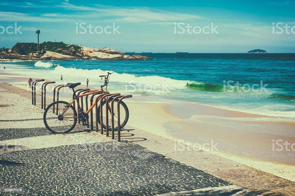 Arpoador beach in Rio de Janeiro stock photo
