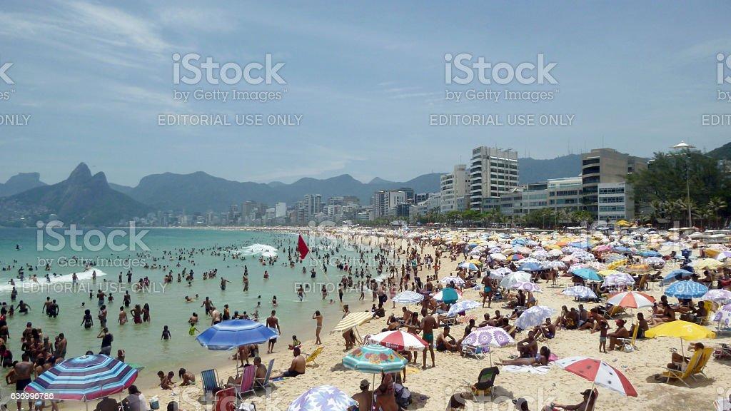 Arpoador beach view in Rio de Janeiro stock photo