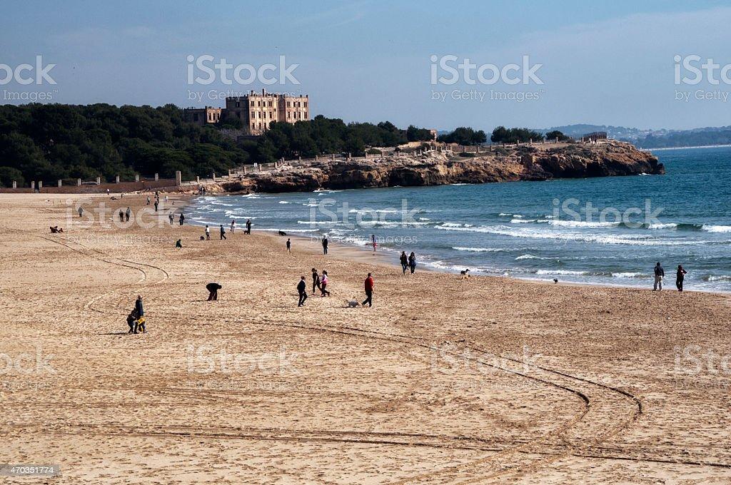 Arrabassada beach Tarragona in winter stock photo