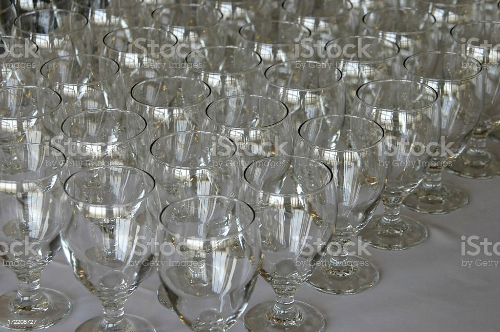 Arranged Glasses royalty-free stock photo