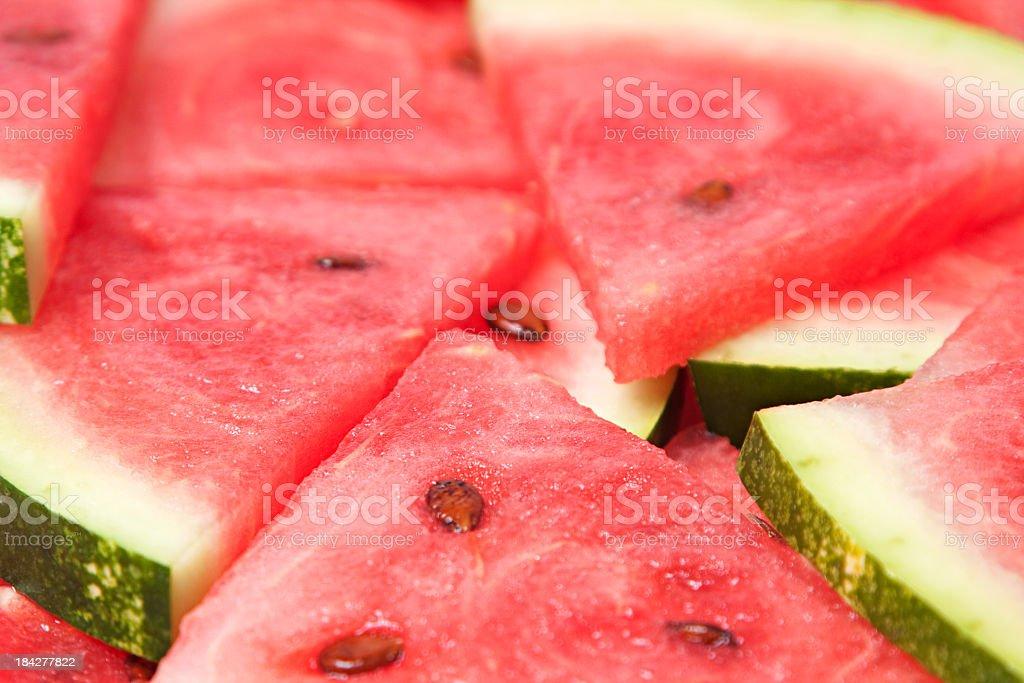 arranged slices royalty-free stock photo