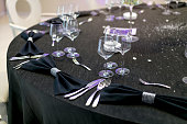 arranged table for a celebration