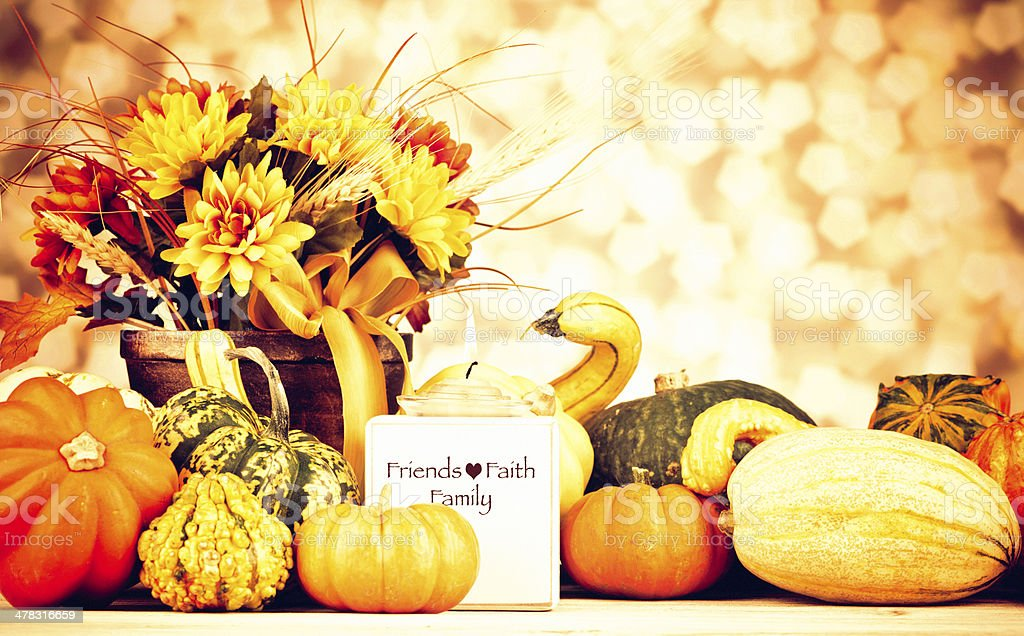 Arrangement for Thanksgiving and Fall royalty-free stock photo