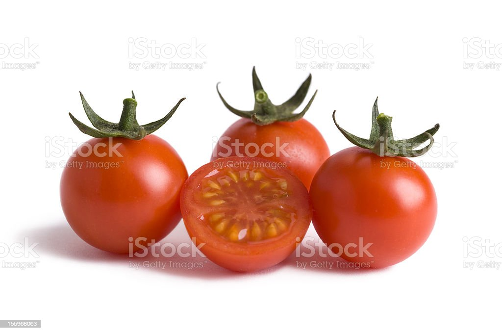 Arrangement of cherry tomatoes stock photo