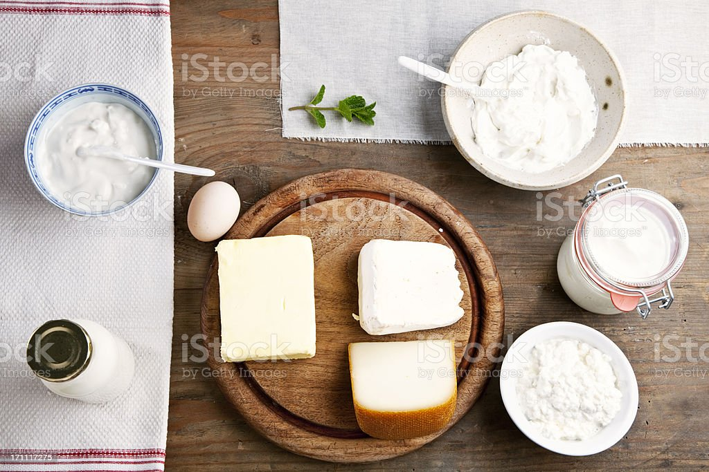 Arrangement of Dairy Products royalty-free stock photo