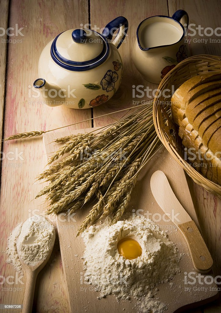 Arrangement of English loaf royalty-free stock photo