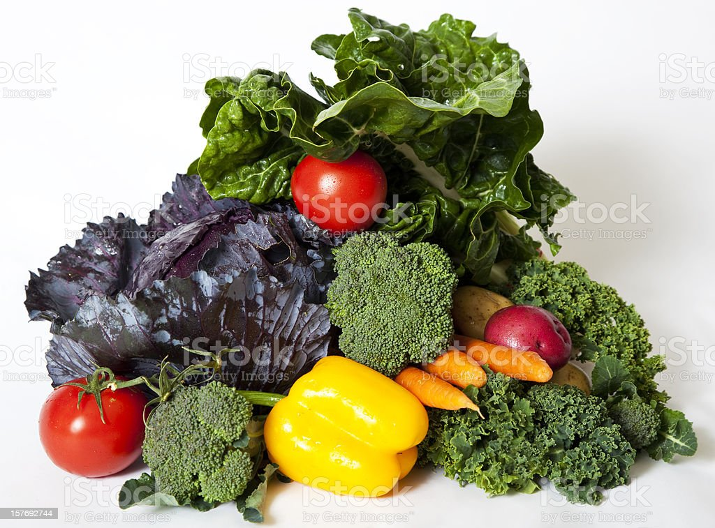 arrangement of mixed raw vegetables royalty-free stock photo