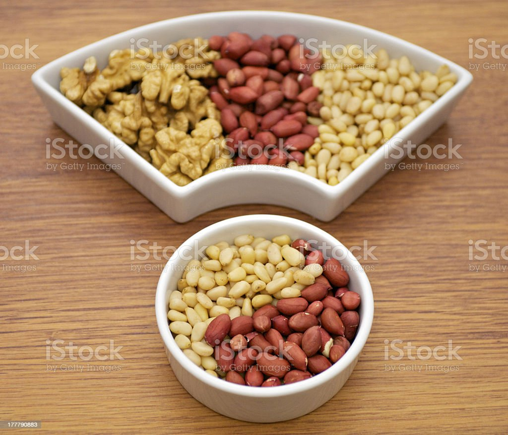 Arrangement of Nuts royalty-free stock photo