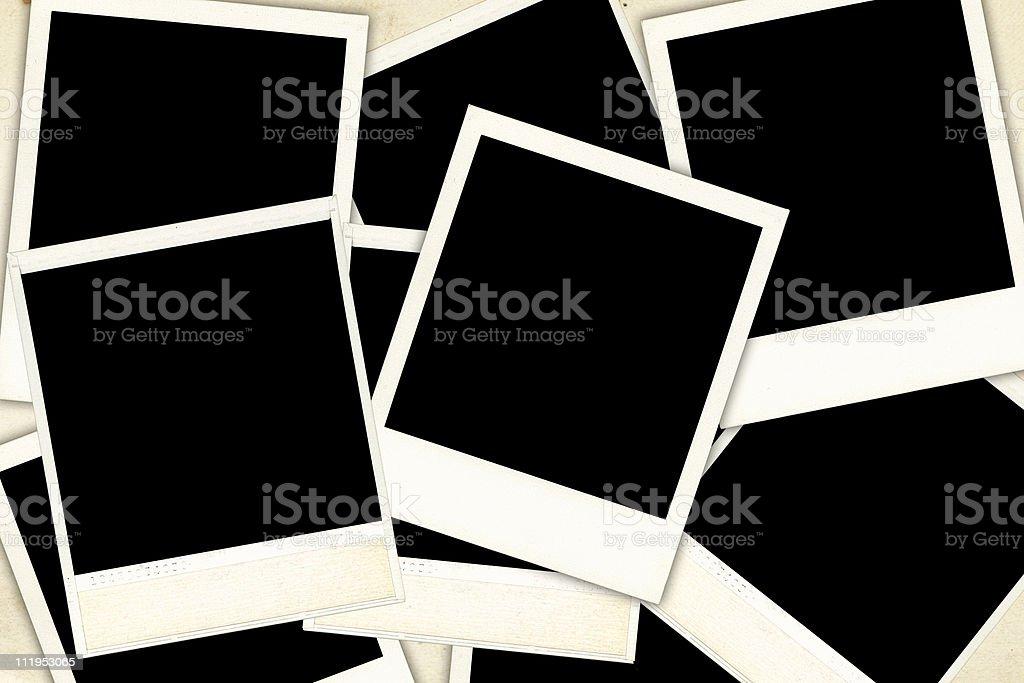 Arrangement of old photos stock photo